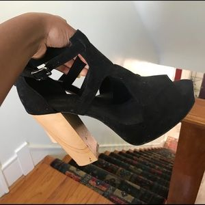 H&M Wooden Block Sandal Heel